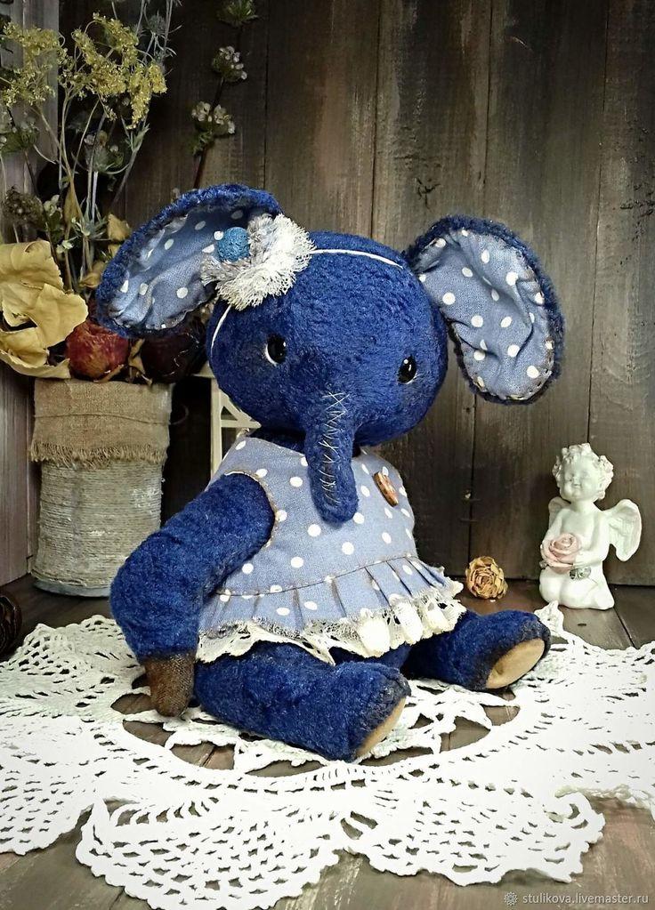 Выкройка синего слона тедди с платьем – купить в интернет-магазине на Ярмарке Мастеров с доставкой