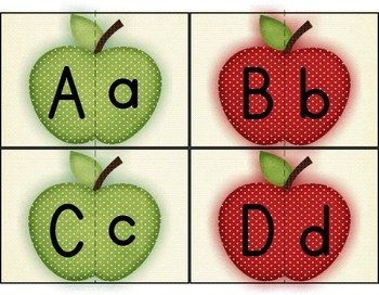 Alphabet Match-Up - Apples {FREE}