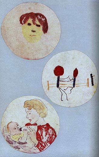 Alexander Fleming's microbial art.