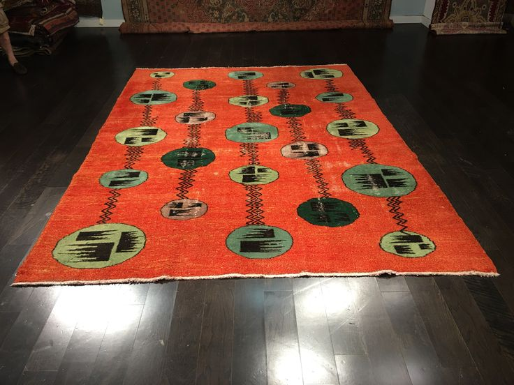 "Bellwether Rugs Vintage Turkish Zeki Muren Designed Rug 7'1""x9'6"""