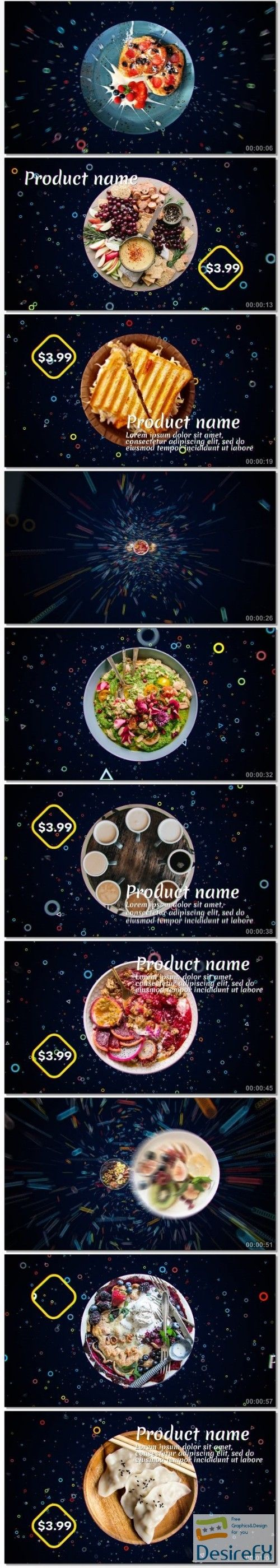 Videohive Dynamic 4K Food Menu 21165889