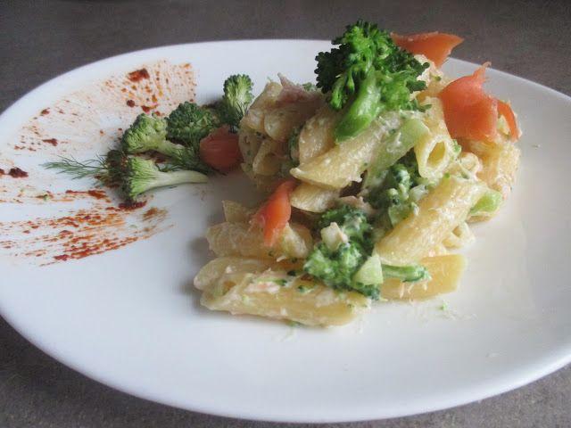 FORNELLI IN FIAMME: PENNE PASTA WITH GREEK YOGURT, SMOKED SALMON AND BROCCOLI (RECETTE AUSSI EN FRANCAIS) - Penne con yogurt greco, salmone affumicato e broccoli