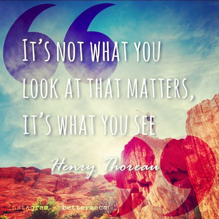 It's not what you look at that matters, it's what you see. - Henry Thorean