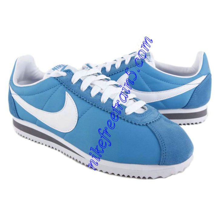 cheap for discount f7190 c9a3f Nike Classic Cortez Nylon Womens Light Sky Blue White nike cortez green ...