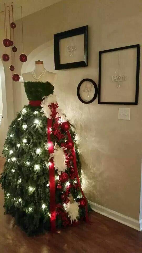 Christmas tree dress...I love this!