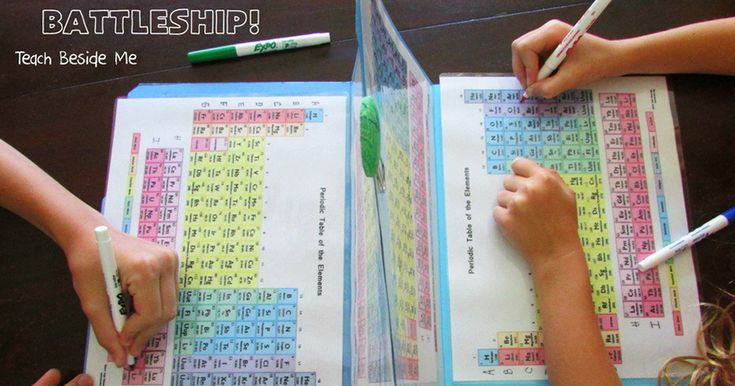 Mom Makes Periodic Table Battleship To Teach Her Kids About Elements | Bored Panda