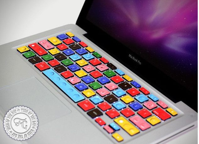 Colourful typing. LEGO MacBook Keyboard. #apple