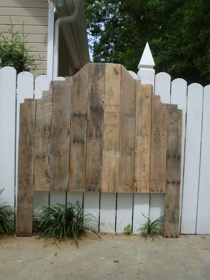 Shabby Chic pallet headboard - Full size. $225.00, via Etsy.