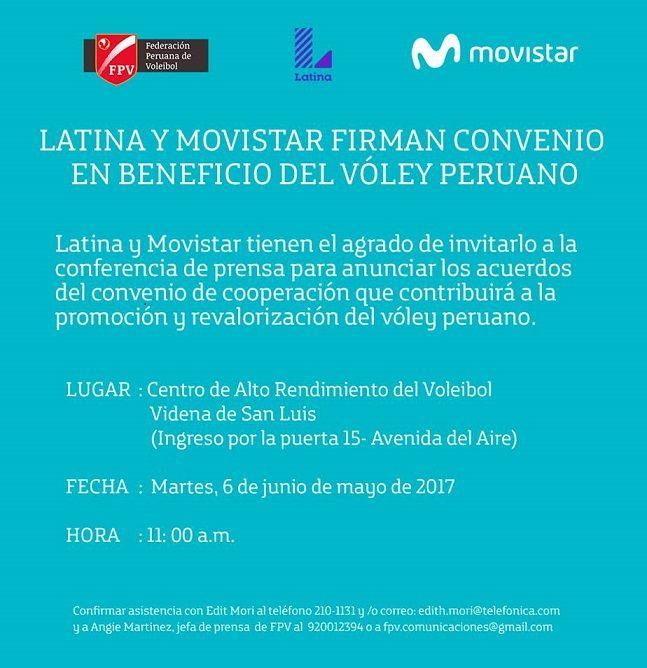 FEDERACIÓN PERUANA DE VOLEIBOL FIRMARÁ CONVENIO CON CANAL DE TELEVISIÓN