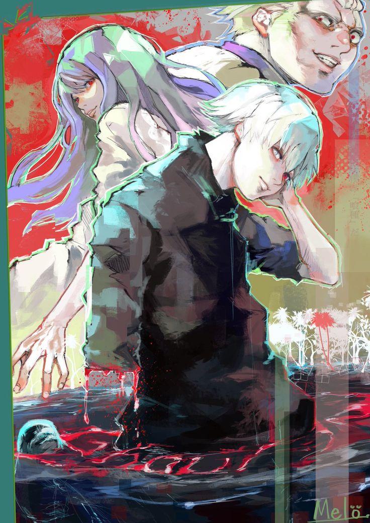 Tokyo Ghoul    Ken Kaneki    Rize Kamishiro    Jason/Yakumo Oomori