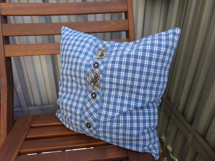 Kissenbezüge - Kissenbezug 40x40 - Landhaus-Stil - blau/weiß - ein Designerstück von Tinschae bei DaWanda
