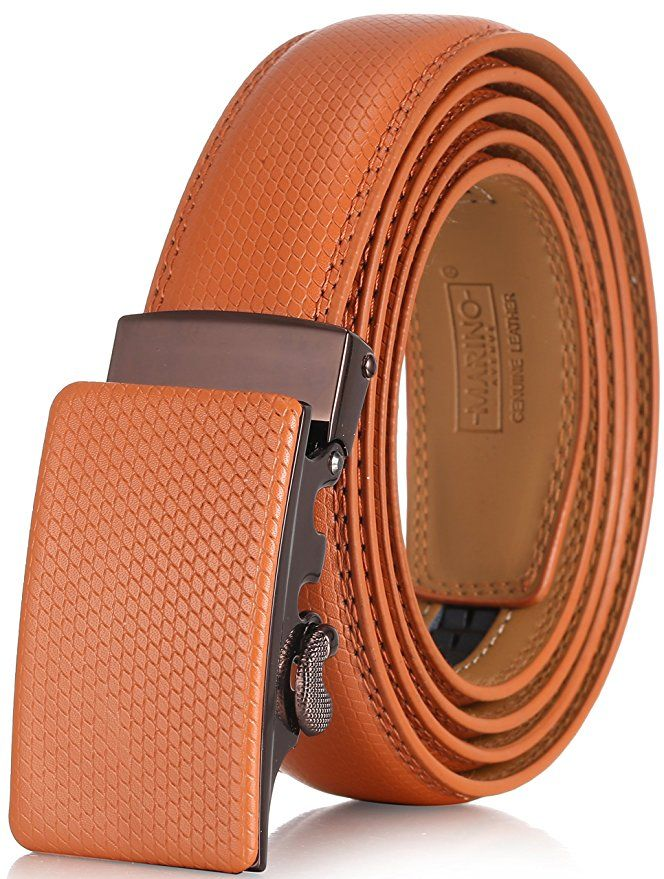 Marino Men S Genuine Leather Ratchet Dress Belt With Automatic Buckle Enclosed In An Elegant Gift Box No More Holes Marino S No Ropa De Hombre Hombres Ropa
