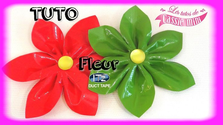 { Tuto } Fleur en it'z duct tape