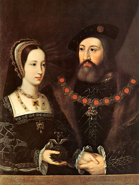 Charles Brandon with his wife, Mary Tudor. Duke and Duchess of Suffolk.