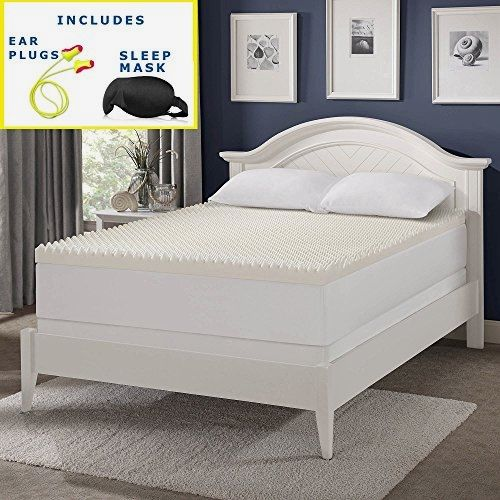 Serta 3-inch Wave Memory Foam Mattress Topper (Convoluted Foam – Egg Crate Foam) Sleep Mask & Comfortable Pair of Corded Earplugs Included (Queen)  Rest peacefully and also awaken revitalized with this wonderful and also helpful mattress topper. With 3 inches of relatively easy to fix memory foam, this cushion topper is made with delicately contoured, costs memory foam to soothe excruciating stress factors that create you pain. Not just will it improve your rest, however additionally..