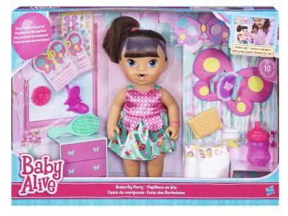 Boneca Baby Alive Festa das Borboletas - Hasbro com as melhores condições você encontra no Magazine Jbtekinformatica. Confira!