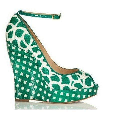 The World Of High Heels: Oscar De La Renta Resort 2013 Shoes collection: chic stilettos and wedge colored blocks.