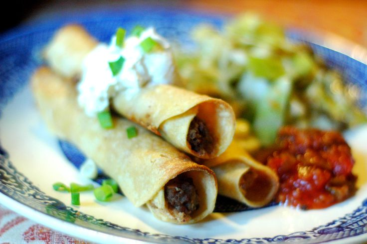 TNT - Beef Taquitos (makes 18 slightly overfilled taquitos, rounded 2 TBS. filling each, sub heavy cream for sour cream