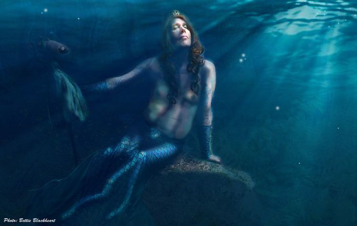 Frank Doggenstein as Ahti, the finnish Lord of the underwater world / Photo and photoshop by Petra Innanen