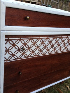 Mid Century Modern Furniture Remake Painted And Stenciled