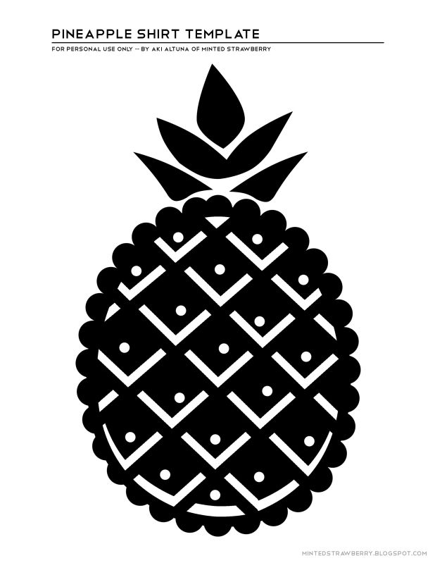 pineapple silhouette projects stencils