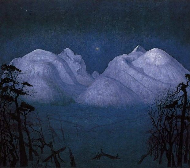 Harald Sohlberg, Winter Night in the Mountains, 1901, Nasjonalmuseet for kunst, arkitektur og design, Oslo