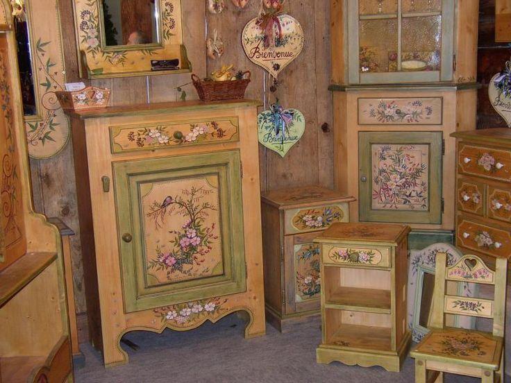 расписная мебель, декор для интерьера