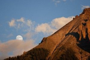 A beautiful moon at Owl Creek Pass in #Montrose, #Colorado. #photo