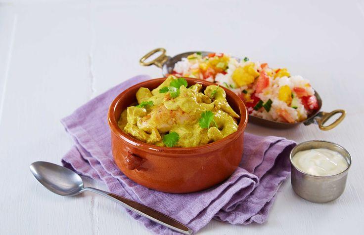 Kylling og karri er en smakfull kombinasjon. Her er en variant av den velkjente indiske kyllingretten.