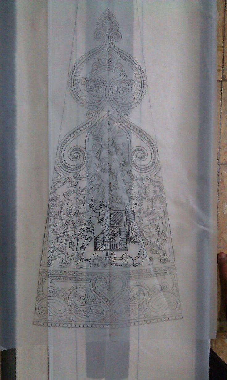 Rajasthani art on Lahenga