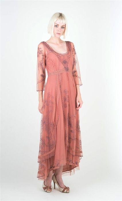 Downton Abbey Style Wedding Dress Of Nataya 40163 Cinnamon Rose Vintage Dress Nataya Downton