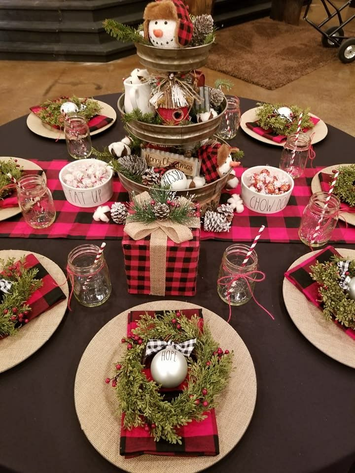 Love This Table Set Up Christmas Table Decorations Christmas Party Decorations Christmas Party Table