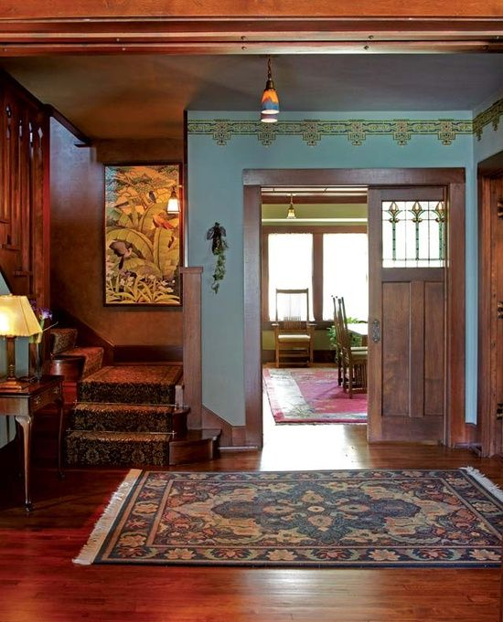 Arts and Crafts Movement   Arts and Crafts Movement/Style / Hand-painted geometric frieze in the ...