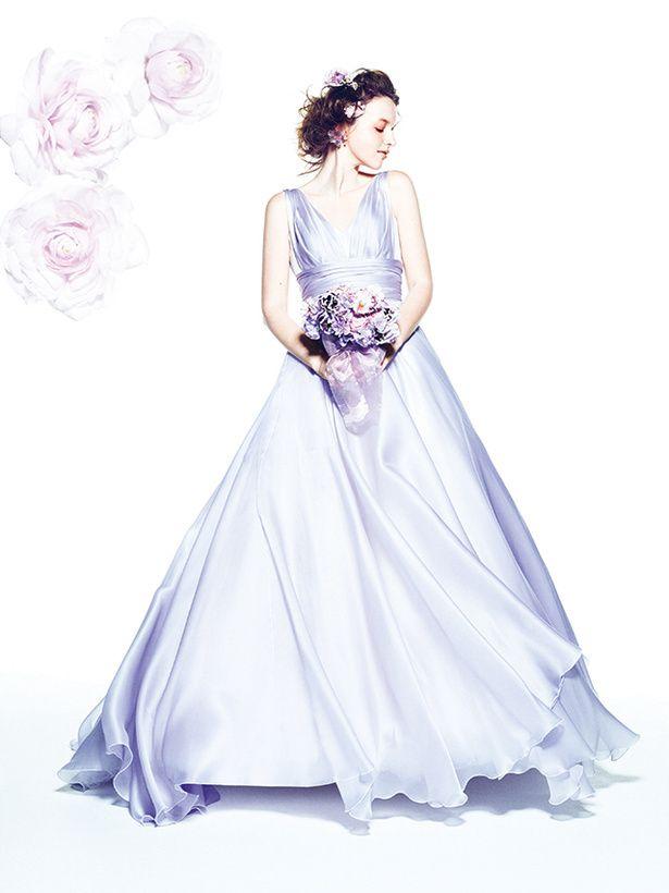 グランマニエ(GRANMANIE) 銀座 シルクオーガンジーのラベンダーカラーの美しさを引き立てる、エレガント
