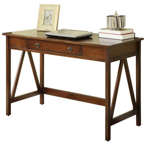 Home Office Desk Furniture Computer Laptop Writing Desks With Drawer Versatile #Linon