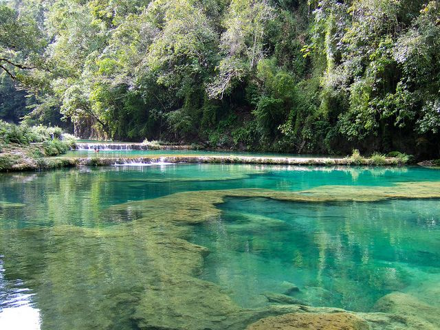 beautiful pools of Semuc Champey, Guatemala