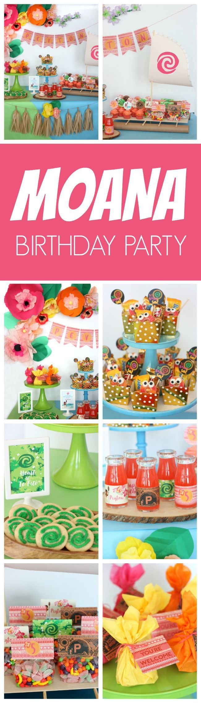 Fabulous Moana Themed Birthday Party featured on Pretty My Party