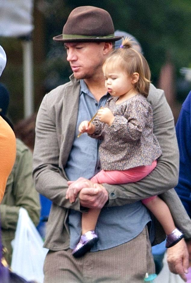 Channing Tatum with his daughter :)