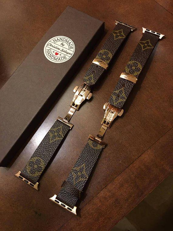 02b5e92fb687 Handmade Louis Vuitton Apple Watch Band Series 1 2 3 4 - 146mm to ...