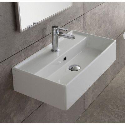 Scarabeo by Nameeks Teorema Ceramic Wall Mounted Vessel Bathroom Sink & Reviews | Wayfair