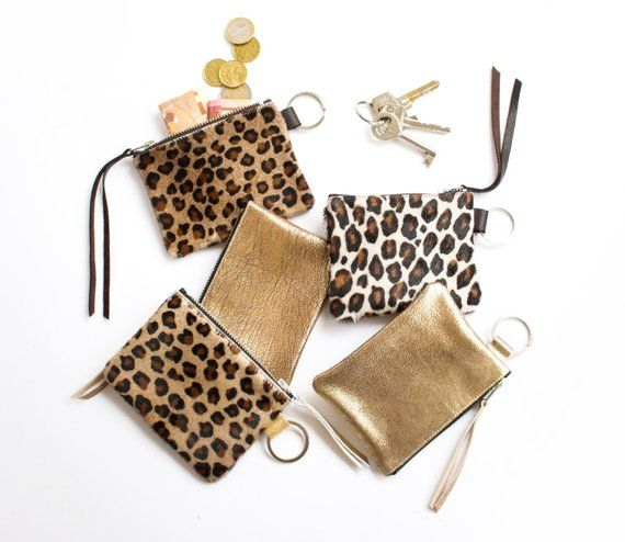 Leather Coin Purse Leather keychain