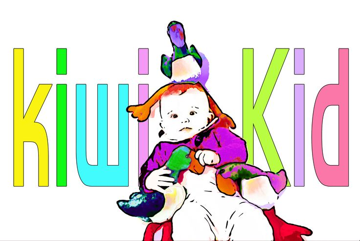Paula Kiwi Kid with pukeko dolls