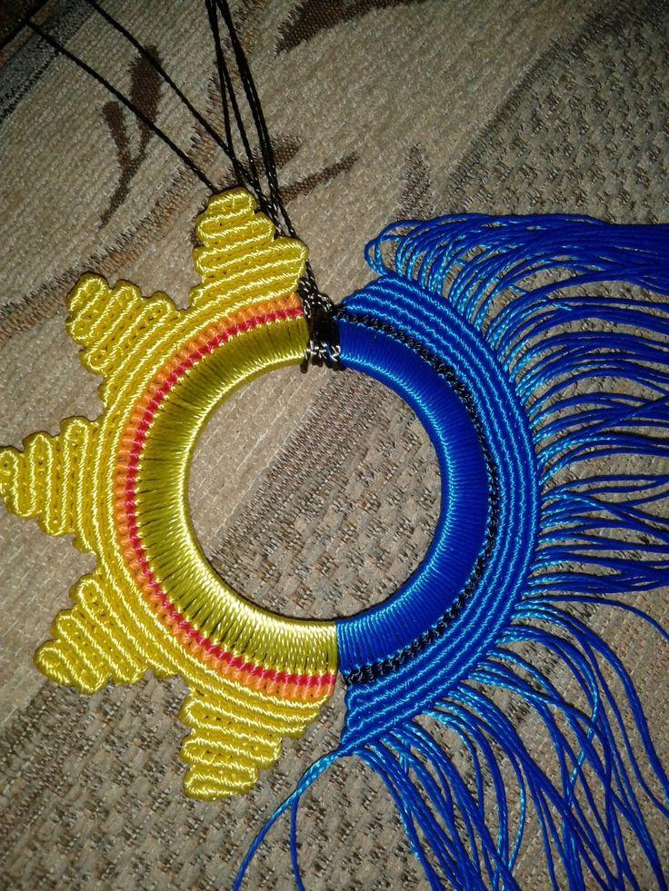 almost done macrame necklace:)