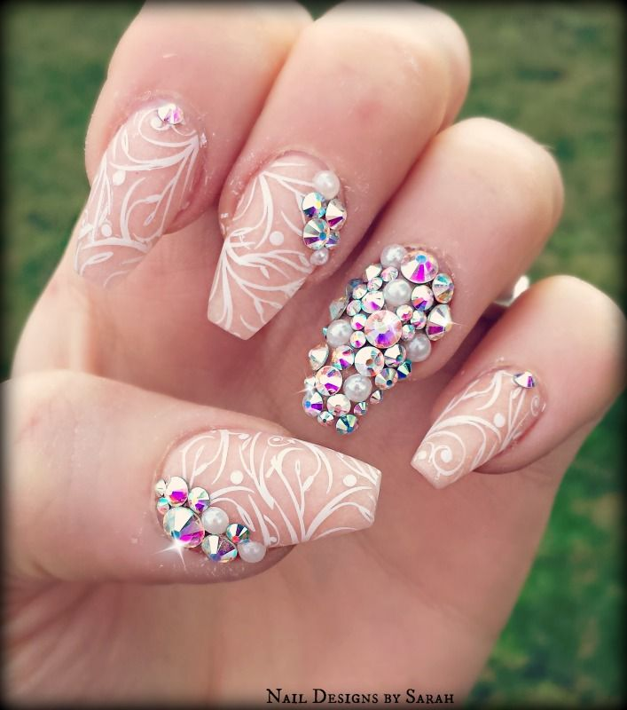 Fantastic Swarovski Nail Crystal Elaboration - Nail Art Ideas ...