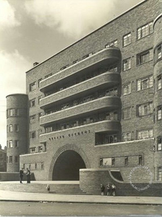 Gerard Gardens, Liverpool. Sadly & inconceivably demolished in the 1980's. #ArtDeco