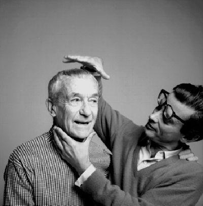 Richard Avedon and Jacques Henri Lartigue, New York, November 1966 (photograph taken by Florette, Lartigue's wife).