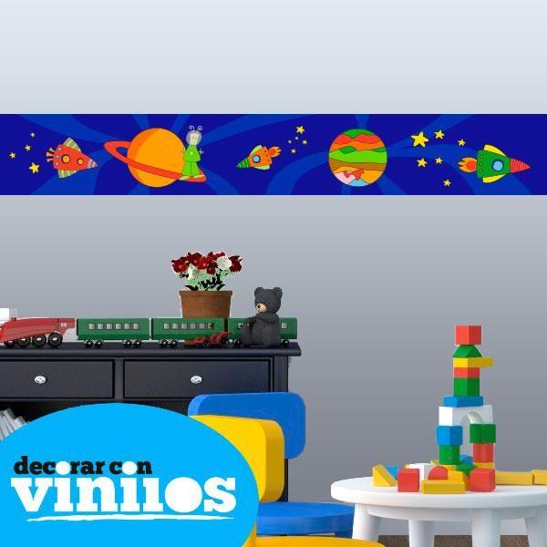 Cenefa Infantil - Espacio  Mira más cenefas infantiles en http://www.decorarconvinilos.com/vinilos-infantiles/cenefas-infantiles