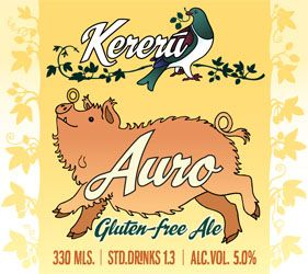 From Kereru Brewing | Auro ~ 5%ABV A golden, gluten-free ale. Clean, very clear, light & refreshing. Complements pork & savory food. Even if you're not gluten-intolerant, you should try this beer.  $8.00 per 330ml Bottle, $88 per dozen. $10 per 500ml bottle, $110 per dozen. #glutenfree | http://kererubrewing.co.nz/where-to-buy.php