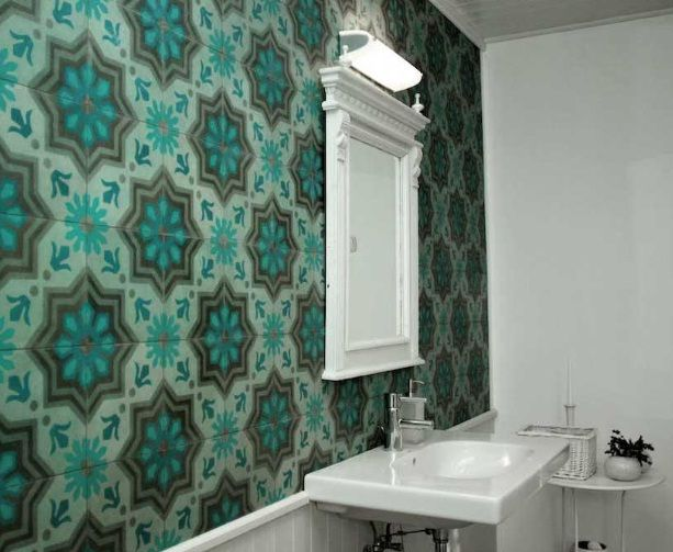 Cement tile I adore this. Am sure even my bedhead would look good with this as a backdrop!