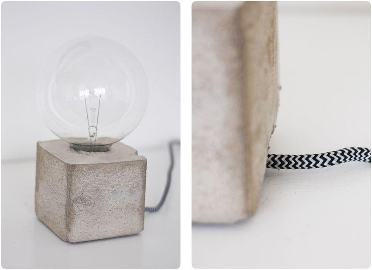 | concrete lamp base diy